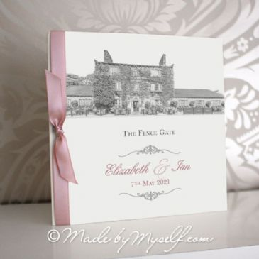 The Fence Gate Pocketfold Wedding Invitation - Includes RSVP & Guest Information